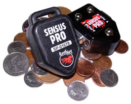 Sensus Pro and cradle on coins